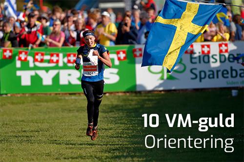 10 VM-guld i Orientering